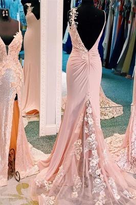 ZY172 Beautiful Evening Dress Long Pink Evening Wear Backless_4