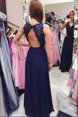 ZY226 Evening Dress Plain With Lace Floor-Length Evening Wear_3