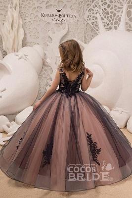 V-Neck Sleeveless Ball Gown Flower Girls Dress_2