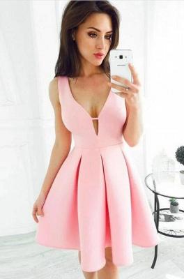 ZY202 Simple Cocktail Dresses Party Dresses Evening Dress Short Pink_2