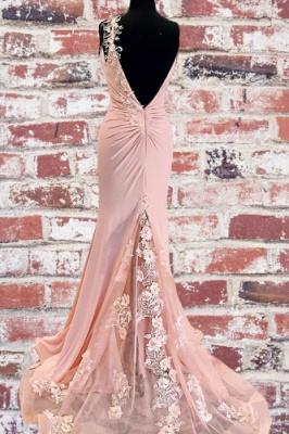 ZY172 Beautiful Evening Dress Long Pink Evening Wear Backless_3