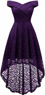 Vintage Floral Lace Off Shoulder Hi-Lo Formal Swing Dress_6