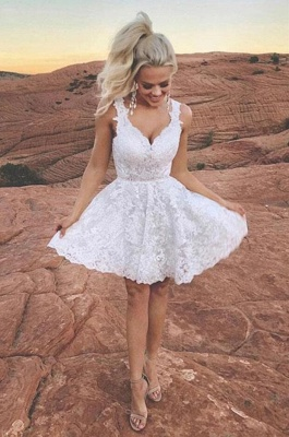 ZY203 Cocktail Dresses Short White Ball Gowns With Lace_2