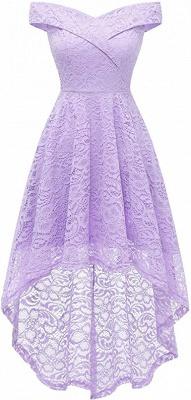 Vintage Floral Lace Off Shoulder Hi-Lo Formal Swing Dress_7