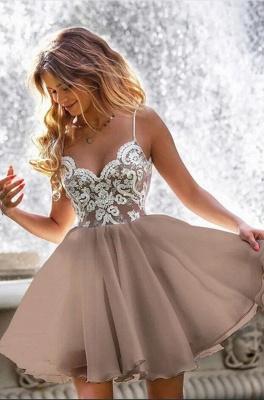 ZY209 Designer Cocktail Dresses Short Simple Evening Dresses With Lace_2