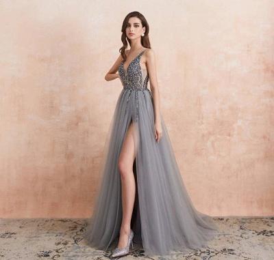 ZY190 Evening Dresses Long V Neckline Evening Wear Cheap Online_2