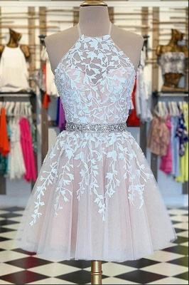 ZY219 Simple Evening Dresses, Short Cocktail Dresses With Lace_2