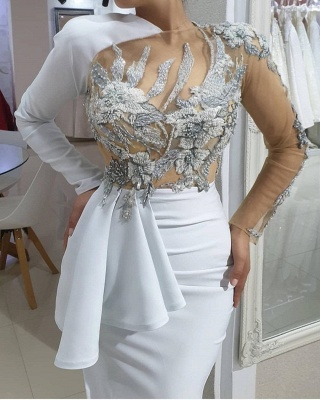 ZY173 Evening Dresses Long White Prom Dresses With Sleeves Online_4
