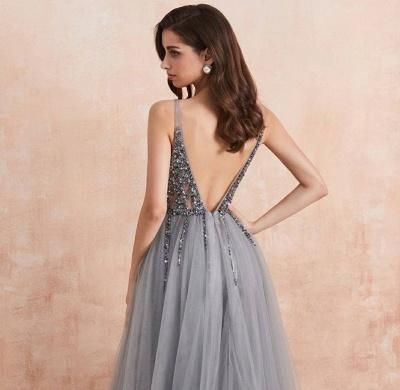 ZY190 Evening Dresses Long V Neckline Evening Wear Cheap Online_3