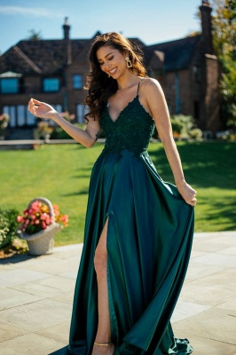 ZY215 Simple Evening Dresses Green Prom Dresses Long Cheap_2