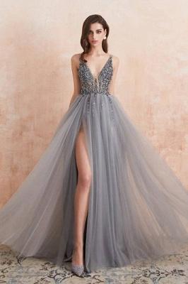 ZY190 Evening Dresses Long V Neckline Evening Wear Cheap Online_1