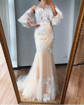 ZY255 Evening Dress Long With Sleeves Wonderful Evening Dresses With Lace_3