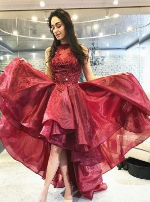 ZY242 Cocktail Dresses Red Evening Dresses Short Front Long Back_2