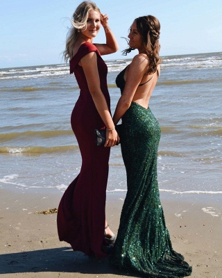 ZY241 Simple Evening Dresses Long Cheap Prom Dresses With Lace_3