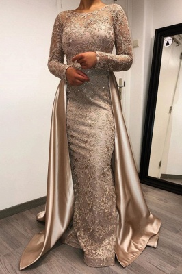 ZY264 Designer Evening Dresses Long With Sleeves Lace Mother Of The Bride Dresses Cheap_1