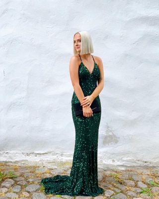 ZY241 Simple Evening Dresses Long Cheap Prom Dresses With Lace_2
