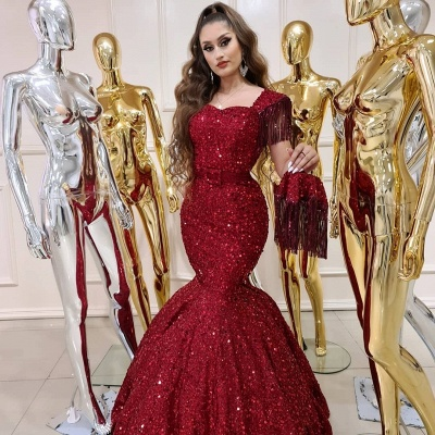 ZY240 Prom Dresses Long Glitter Extravagant Evening Dresses Red_3