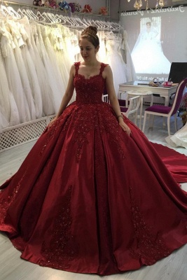 ZY300 Princess Evening Dresses Wine Red Prom Dresses With Lace_1