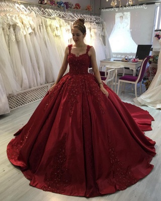 ZY300 Princess Evening Dresses Wine Red Prom Dresses With Lace_2