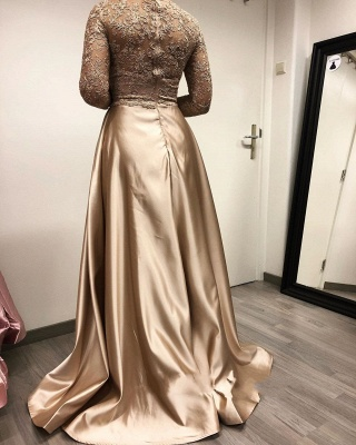 ZY264 Designer Evening Dresses Long With Sleeves Lace Mother Of The Bride Dresses Cheap_4