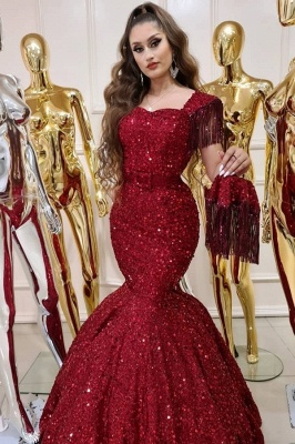 ZY240 Prom Dresses Long Glitter Extravagant Evening Dresses Red_1