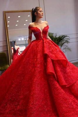 ZY299 Extravagant Evening Dresses Long Red Abenmoden Lace_1