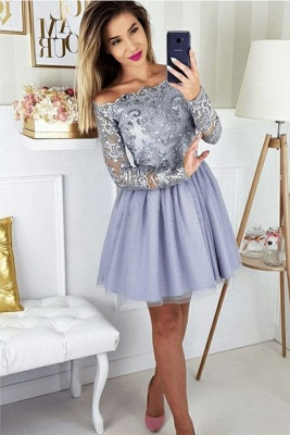 ZY271 Cocktail Dresses With Sleeves Short Prom Dresses Glitter_1