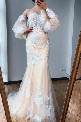 ZY255 Evening Dress Long With Sleeves Wonderful Evening Dresses With Lace_1