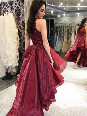 ZY242 Cocktail Dresses Red Evening Dresses Short Front Long Back_3