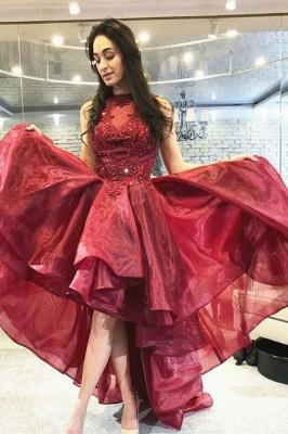 ZY242 Cocktail Dresses Red Evening Dresses Short Front Long Back_1