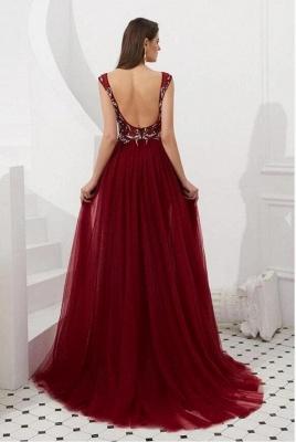 ZY347 Wine Red Evening Dresses Long Cheap Buy Evening Wear Online_2