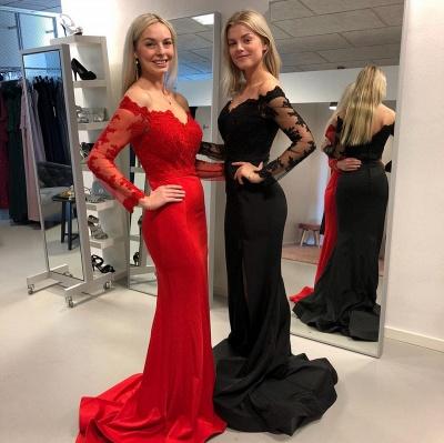 ZY349 Babyonlinedress.De/En/G/Designer Evening Dresses Long Black Red Evening Dress Online_2