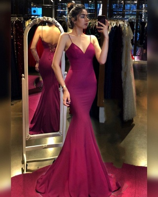 ZY327 Simple Evening Wear Online Evening Dresses Long Pink_2