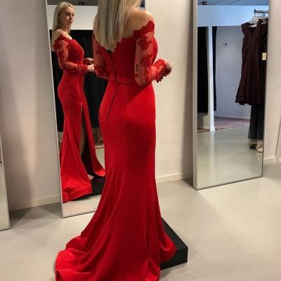 ZY349 Babyonlinedress.De/En/G/Designer Evening Dresses Long Black Red Evening Dress Online_3