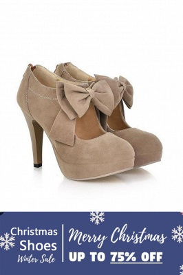 SD1261 Bow Tie Hollow Stiletto Heel Boots Women's Shoes_2
