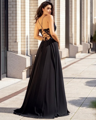 ZY357 Simple Evening Dresses With Lace Red Evening Wear Online_3