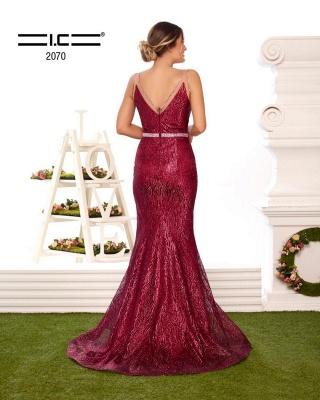 ZY356 Designer Evening Dresses Long Glitter Buy Red Prom Dresses_3