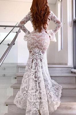 Lace Long Sleeve V-Neck Prom Dress With Slit BA9369_3